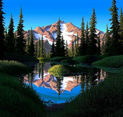 Gifs Serene Mountain Awesome Pixel 8bit Ever