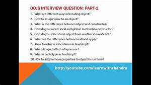 object oriented javascript interview questions for UI and ...
