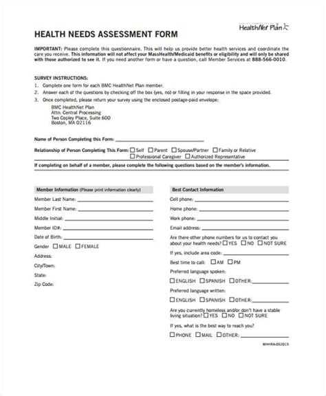 sample  assessment forms   excel ms