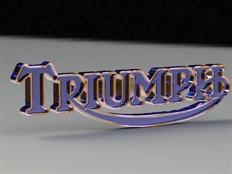 triumph logo   model  printable stl sldprt