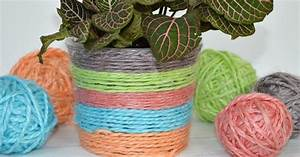 Kool Aid Dyed Yarn U0026 Recycled Plant Pot Hometalk