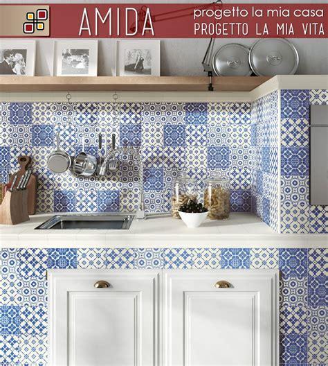 piastrelle decorate per cucina in muratura rivestimento decorato dolce vita in gres porcellanato per