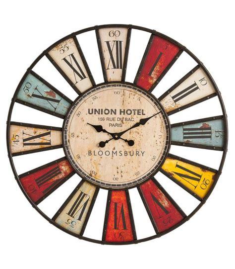 horloge de cuisine originale horloge murale originale multicolore bloomsbury 80 cm