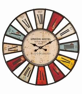 Grande Horloge Murale Originale : horloge murale originale multicolore bloomsbury 80 cm ~ Teatrodelosmanantiales.com Idées de Décoration