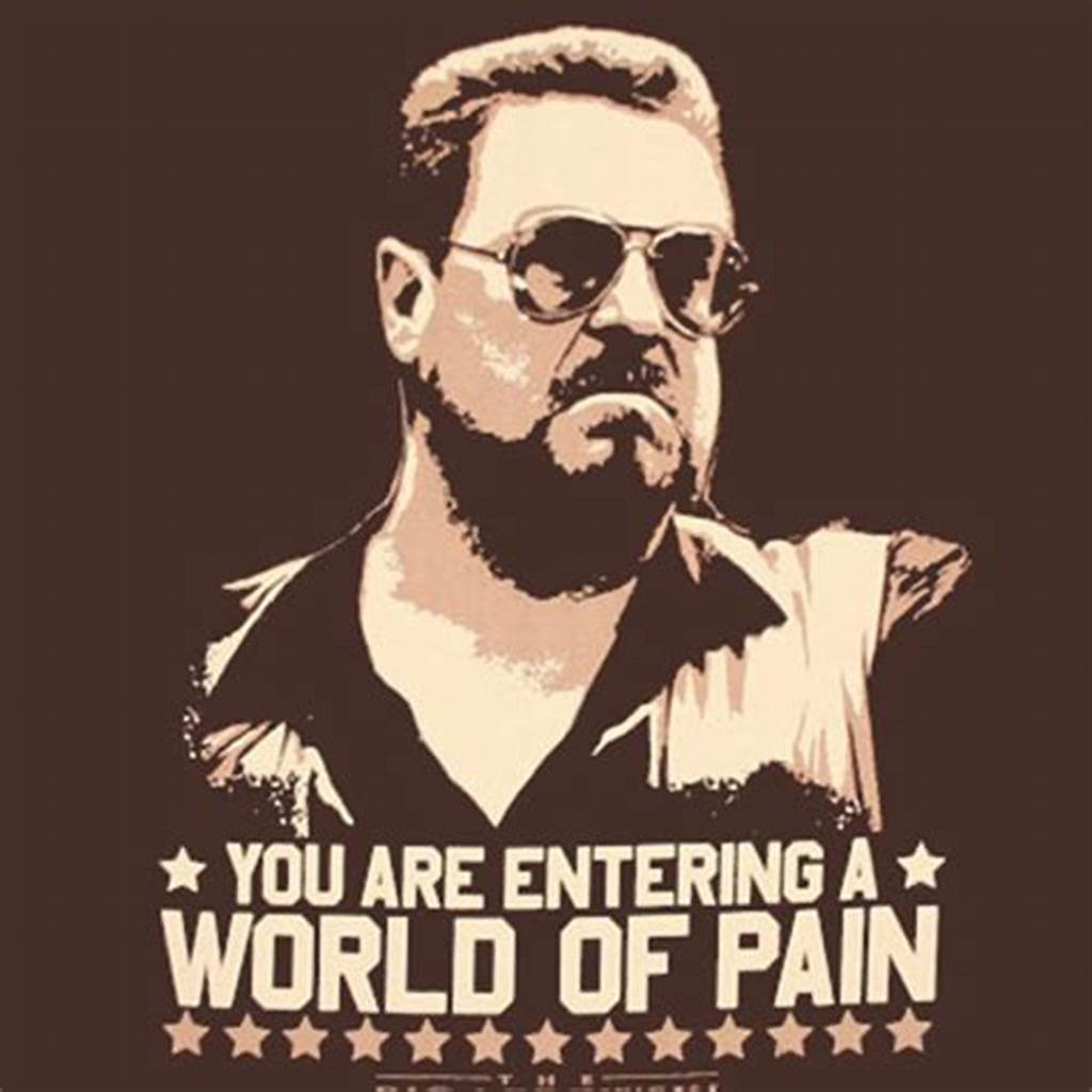 #The #Big #Lebowski #World #Of #Pain #Brown #Graphic #T