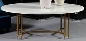 Table Marbre Ovale : grande table basse ovale dessus de marbre blanc pi tement colonnettes ~ Teatrodelosmanantiales.com Idées de Décoration