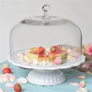 Tortenplatten Mit Fuß : ib laursen tortenplatte mynte in wei mit glashaube cake stands bei home of cake ~ Eleganceandgraceweddings.com Haus und Dekorationen