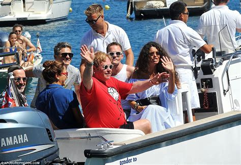elton john swimsuit david furnish joins neil patrick harris and family for