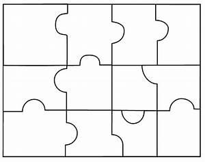 6 Piece Puzzle Template Pdf