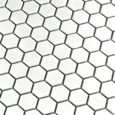 ceramic mosaic tiles honeycomb structure white ho24134m