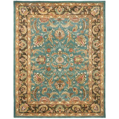 5 8 Area Rugs by Safavieh Heritage Blue Brown 5 Ft X 8 Ft Area Rug Hg812b