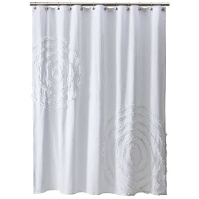 white curtains target pb ruffle flower and ruffle rings shower curtain