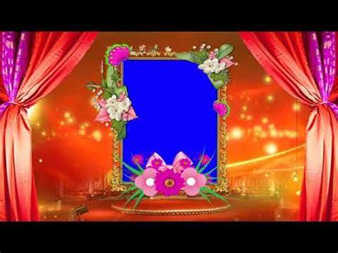 hd  wedding frame animated green screen bhi video