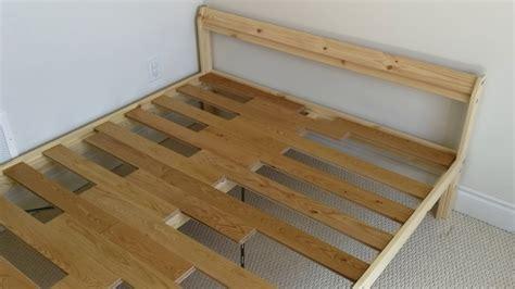 Hardwood Floor As Ikea Neiden Slatted Bed Base