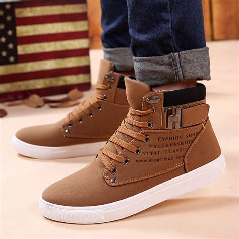 Buy Leather Ankle Boots Warm Winter Snow Men