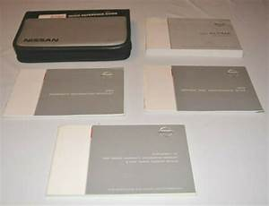 2003 Nissan Altima Owners Manual Guide Book Set With Case