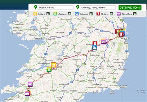 maps update 800900 ireland tourist attractions map