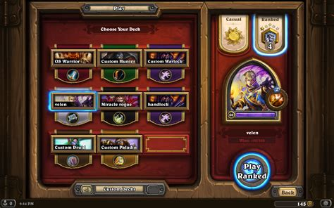 Prophet Velen Deck Loe by The New Prophet Velen Priest Priest