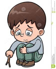 Sad Little Boy Cartoon