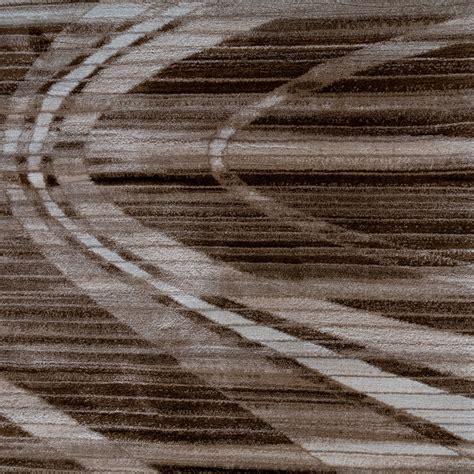 tapis design 201 l 233 gant lignes douces poils ras brun cr 232 me noir chin 233 tous les produits