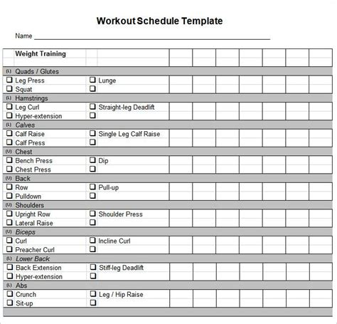daily workout plan template