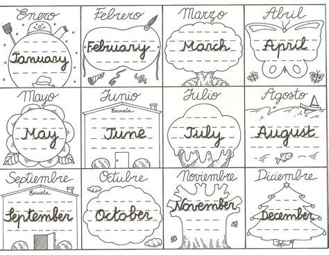 Hoy nos toca inglés: Los meses del año