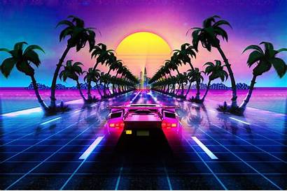 Outrun Synthwave Lamborghini 4k Countach Retro Retrowave
