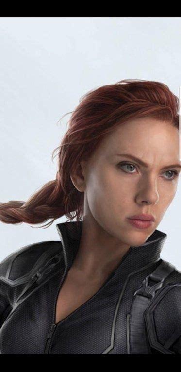 Avengers Close Black Widow New Hairstyle Pop