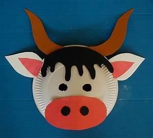 Masque Halloween A Fabriquer : masque de vache t te modeler ~ Melissatoandfro.com Idées de Décoration