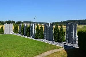 Sichtschutz Stein Pflanzenhof