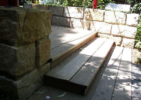 Gartentreppe Aus Holz Holzstufen Richtigetrittlänge