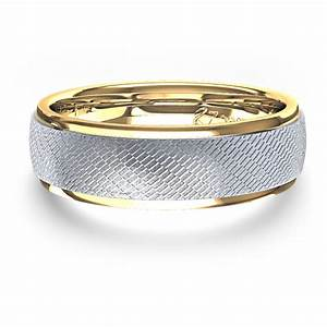 unique mens wedding ring in 14k two tone gold With unique male wedding rings