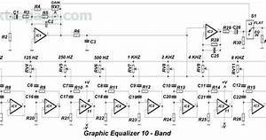 10 Band Equalizer Circuit Diagram