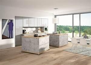 Küche In Betonoptik : k che in betonoptik mit insel auf rollen ~ Michelbontemps.com Haus und Dekorationen