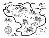 Treasure Coloring Map Pages Printable Template Museprintables Pirate Maps Drawing Pdf Schatzkarte Templates Format Printables Party Malvorlage sketch template