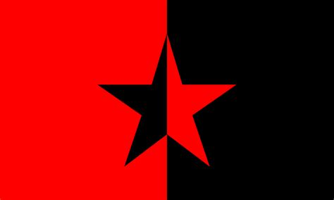 Red And Black Pictures File Red Black Star Flag Svg Wikimedia Commons