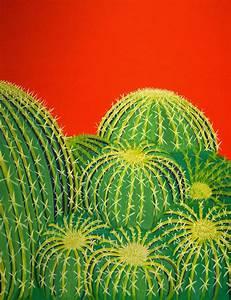 Barrel Cactus Painting by Karyn Robinson