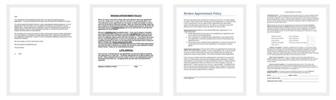 broken appointment letter template  samples  word