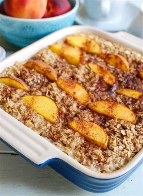 Peaches Cream Baked Oatmeal Cedar Spoon
