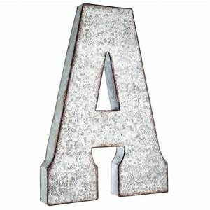hobby lobby large galvanized metal letter miscellaneous With giant wooden letters hobby lobby