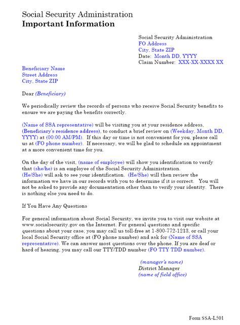SSA - POMS: NL 00701.135 - SSA-L501 Home Visit Letter - 05