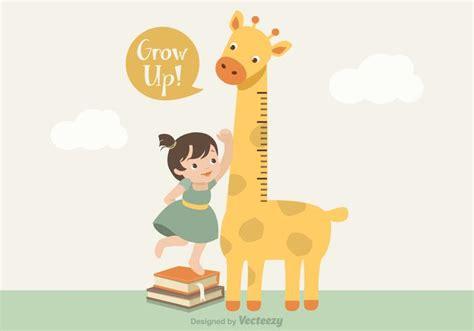 giraffe growth chart vector giraffe growth chart free vector 1218