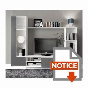 Meuble Tv Complet : finlandek meuble tv mural pilvi contemporain blanc et gris ~ Teatrodelosmanantiales.com Idées de Décoration