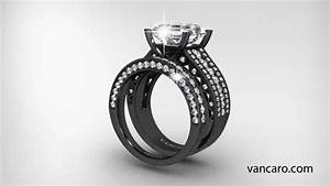 vancaro vintage inspired engagement ring wedding set youtube With vancaro mens wedding rings