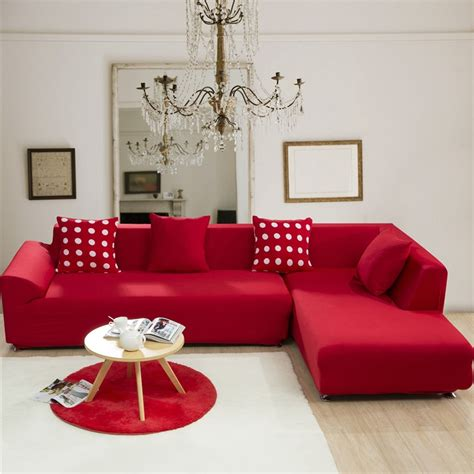 Living Room Covers by Solid Color Elastic Corner Sofa Cover For Living Room