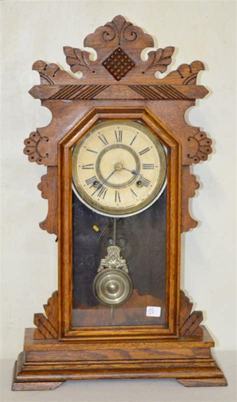 antique ansonia derby oak kitchen clock price guide