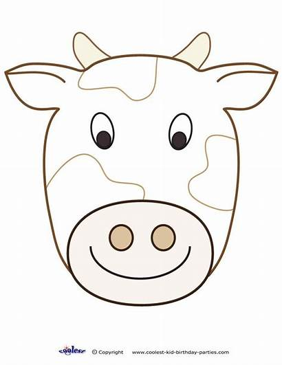 Printable Cow Mask Printables Face Coloring Coolest
