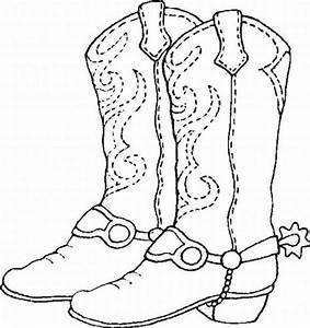 coloring sheet #Cowboy #Boots | Fabric & Patterns ...