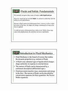 Mechanics Of Fluids Note
