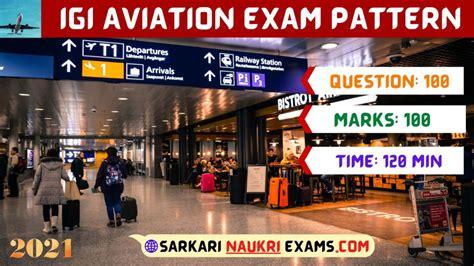 igi aviation syllabus  exam pattern  test question paper